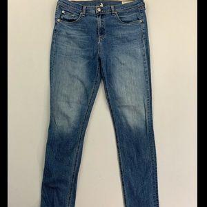 Rag & Bone Women's Blue 10 Inch Skinny Jeans 32